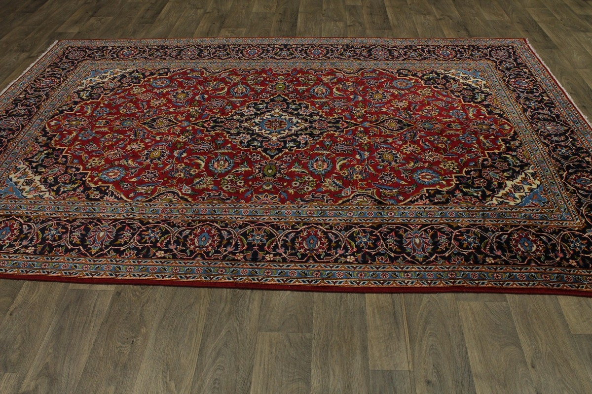 Red Oriental Rug Nice Semi Antique Hand Knotted Red Kashan Persian Rug