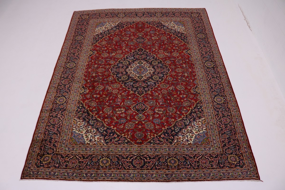 Red Oriental Rug Traditional Handmade S Antique Red Kashan Persian Rug