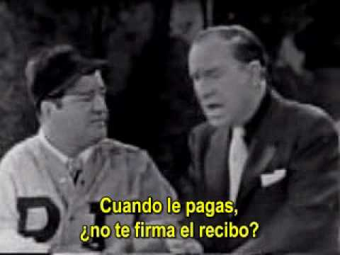"Abbott y Costello: ""Who's on first"" subtitulado español"