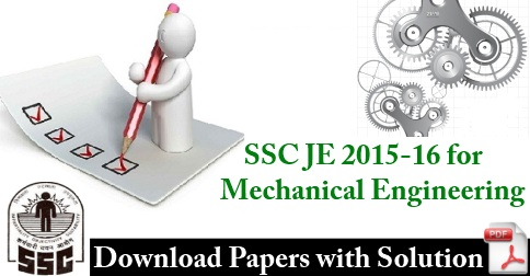 SSC JE Previous Year Papers for Mechanical PDF