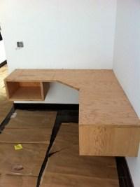 Build Floating Corner Desk Plans DIY PDF wood project bar