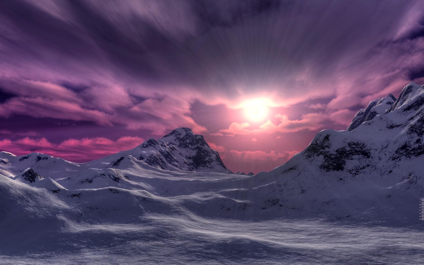 Purple 3d Wallpaper Fondos Para Android Especial Landscapes Paisajes Adnfriki
