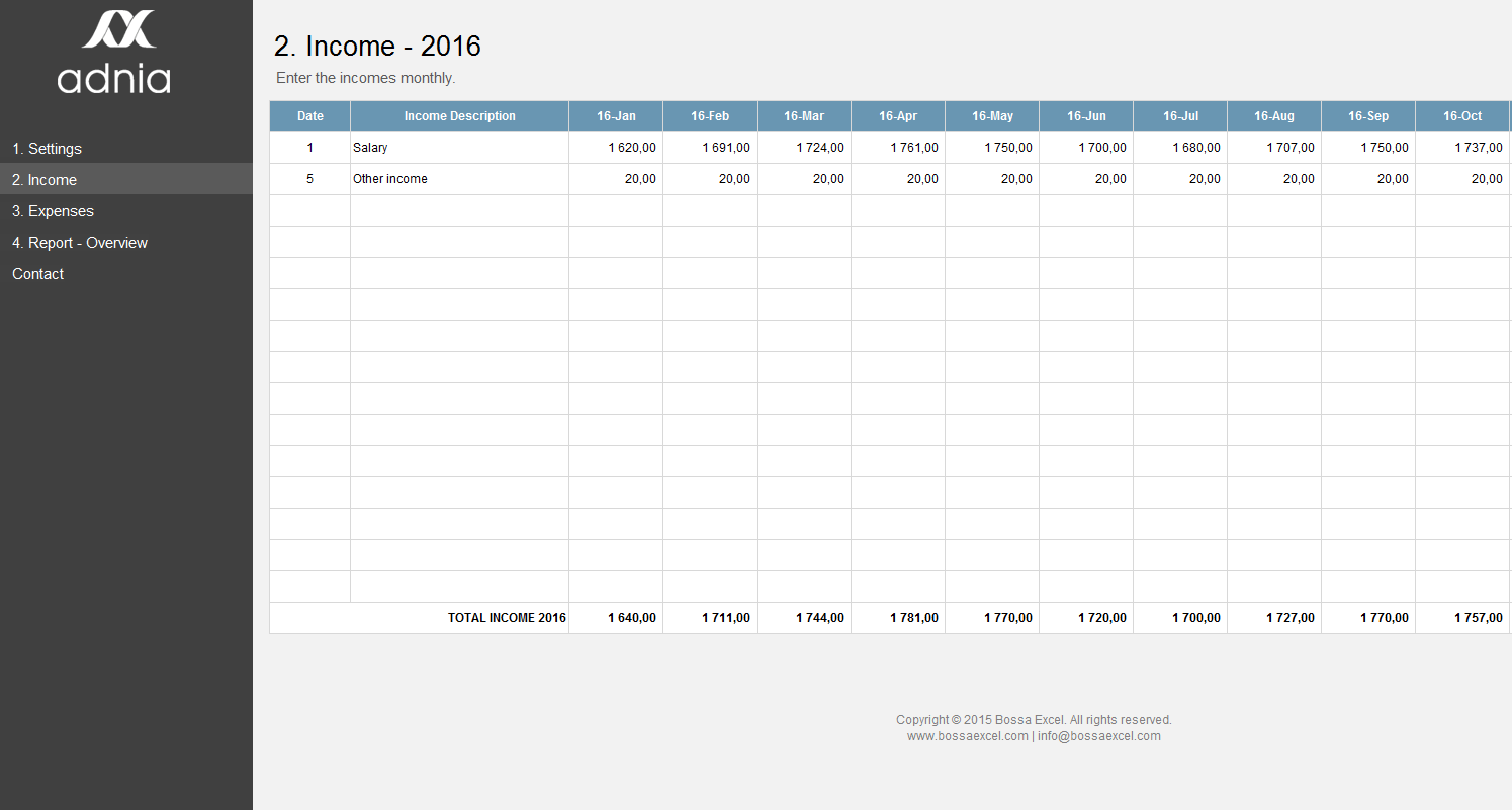 excel personal finance template