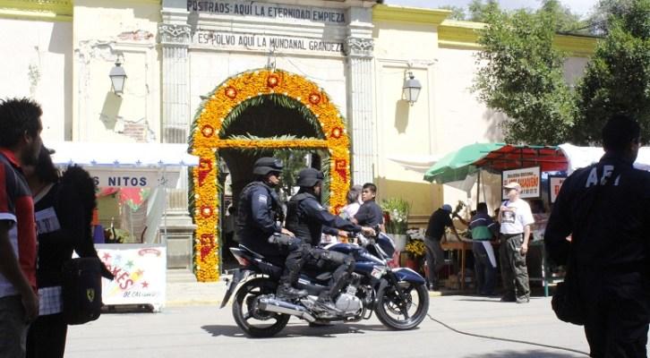 Prepara Seguridad Pública Municipal Operativo  de Seguridad previo a festividades de Todos Santos (18:30 h)