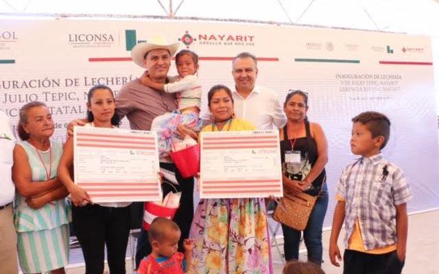 EPN autoriza 40 lecherías Liconsa más para Nayarit (14:13 h)