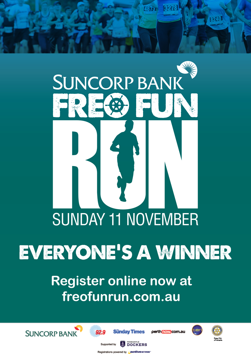 Posters Perth Freo Fun Run Maps Posters And Finish Line Artwork Adolfo Chavez
