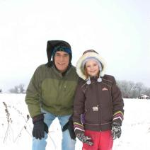 father daughter snow
