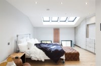 Bedroom with a skylight
