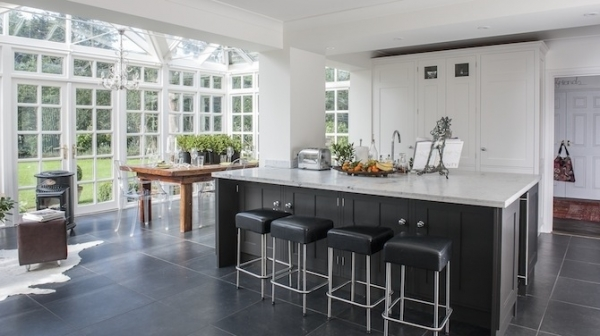 Dark Cabinets White Island A Beautifully Traditional British House – Adorable Home