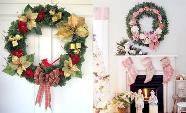 Beautiful Christmas Wreaths for the Front Door u2013 Adorable Home - christmas wreath decorations