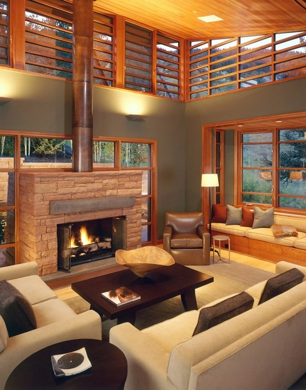 Living Room Table Wood Check Out This Beautiful And Modern Mountain House In Aspen