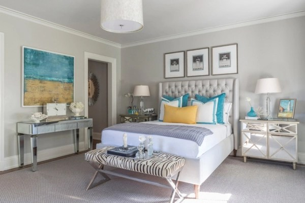 Benjamin Moore Beach Glass Elegant Bedroom With A Lovely Color Scheme – Adorable Home