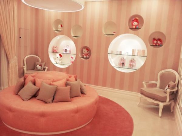 Wallpaper Cute Design Hello Kitty Interior Design