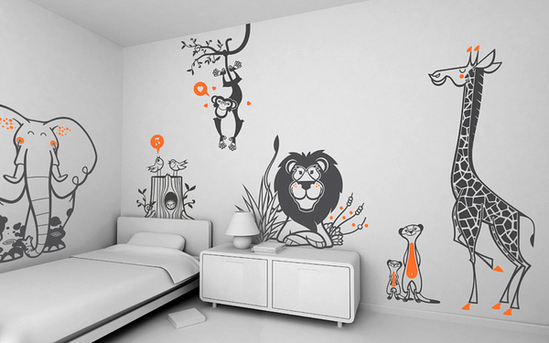 Kamar Anak Anak Laki Laki Kids' Room Wall Decoration: Funny Wall Stickers – Adorable