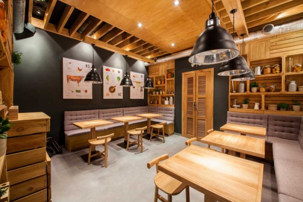 Design Warung Makan Stunningly Simple: Casual Restaurant Design, Kiev