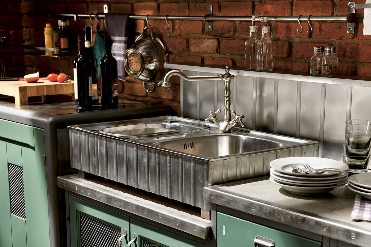 Retro Style Kitchen Vintage And Industrial Style Kitchens By Marchi Group