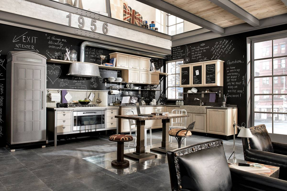 Industrial Vintage Vintage And Industrial Style Kitchens By Marchi Cucine Adorable Home