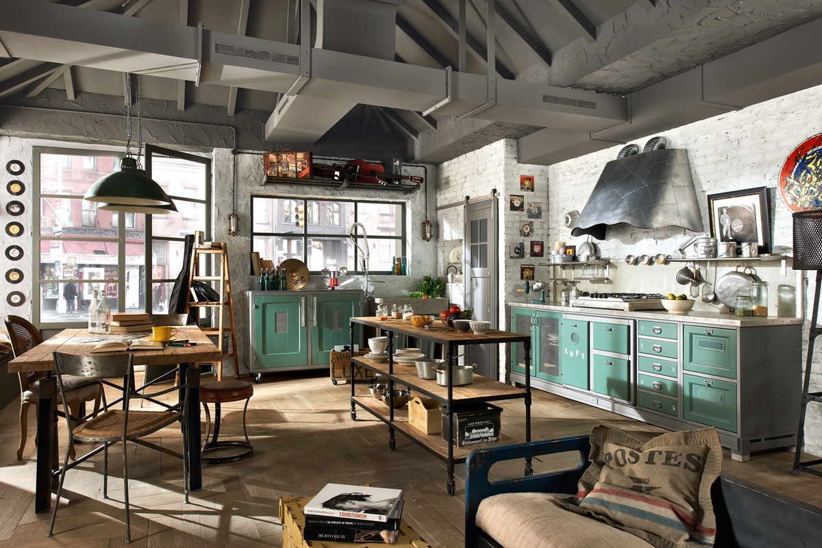 Vintage And Industrial Style Kitchens 8