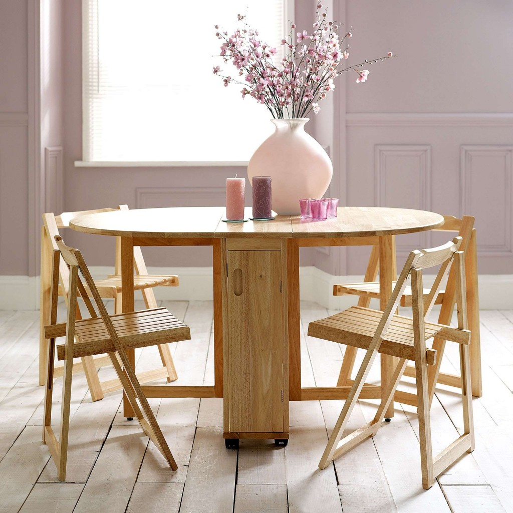 Folding Dining Room Table Chairs Choose A Folding Dining Table For A Small Space Adorable