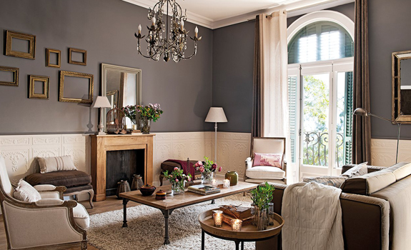 Decoracion Pintura Salones Classic Interior Design In Barcelona – Adorable Home