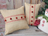 Christmas Burlap Pillows Set