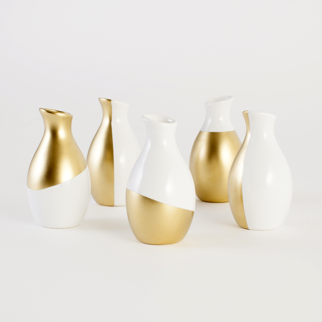 Home Vases Making Gold Dipped Vases At Home Adorable Home
