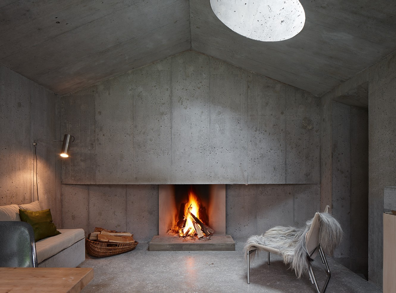 Betonnen Haard The Greatest Selection Of Concrete Fireplace Ideas For The