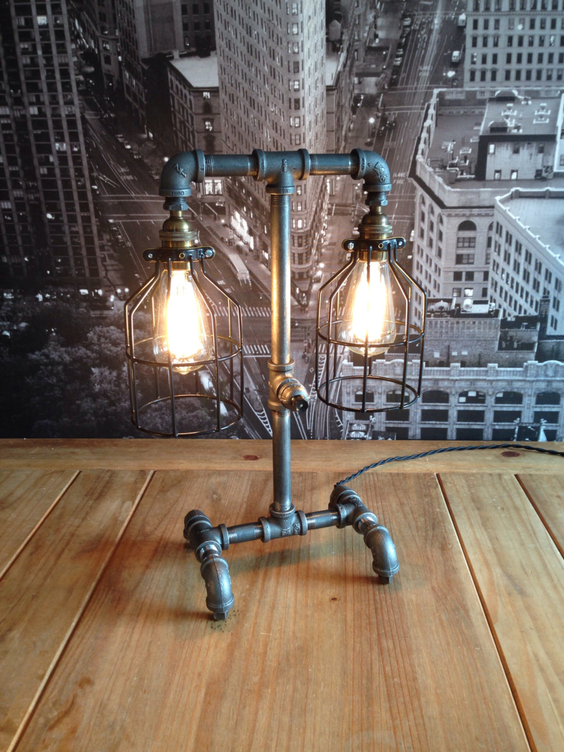 Industrial Decor Lighting The Steampunk Industrial Style Table Lamp Adorable Home