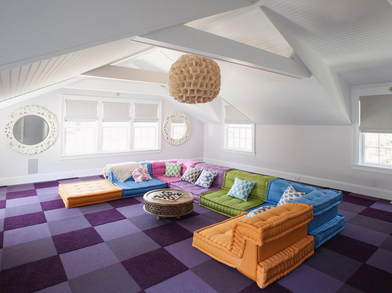 Attic Space Ideas Attic Living Room With All Wooden Ceiling