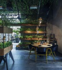 A Natural Restaurant Interior Design  Adorable Home
