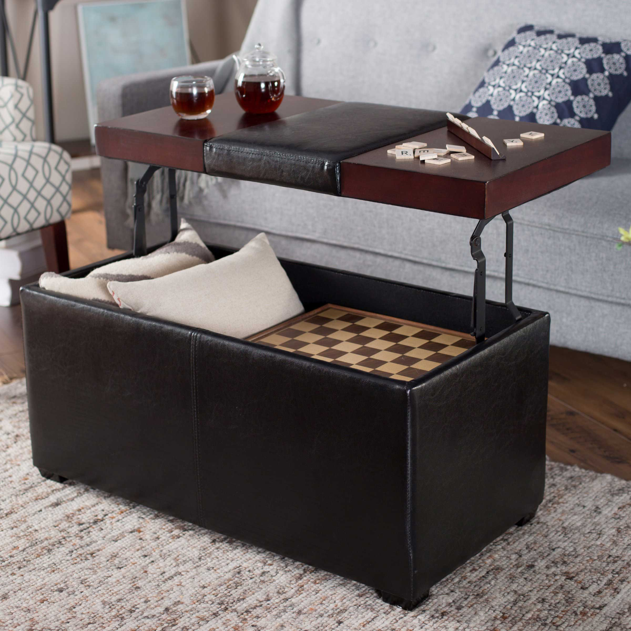 Coffee And End Tables With Storage Leather Coffee Table With Storage