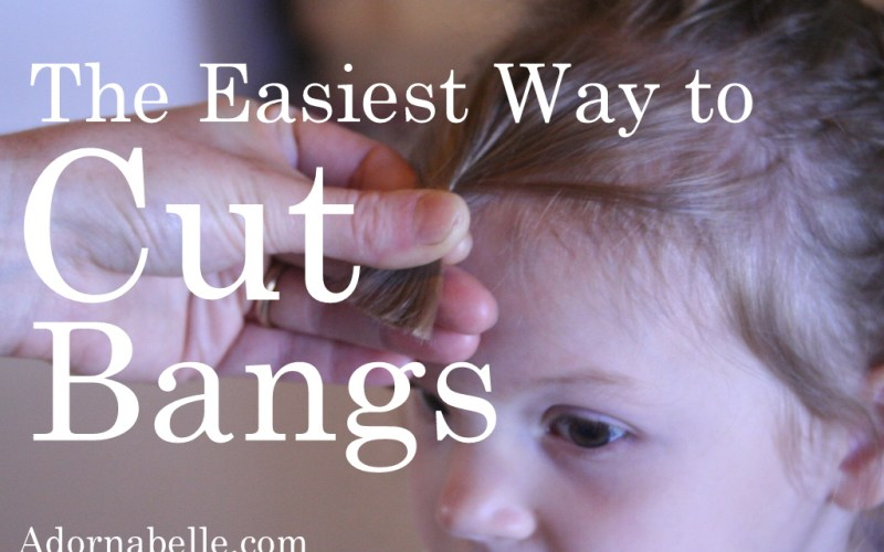 the easiest way to cut bangs