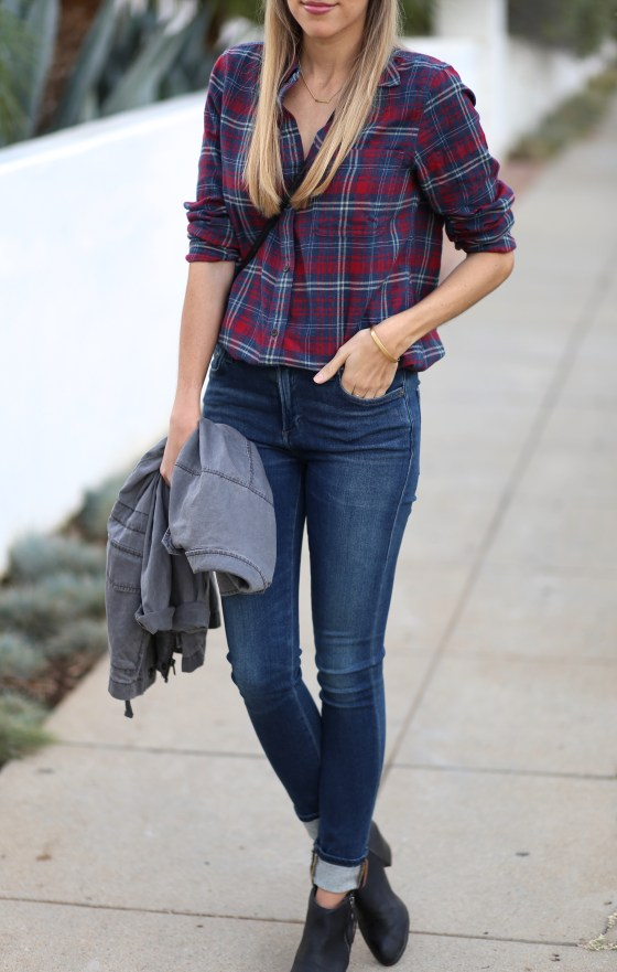 Plaid Button Down - Adorned With Love