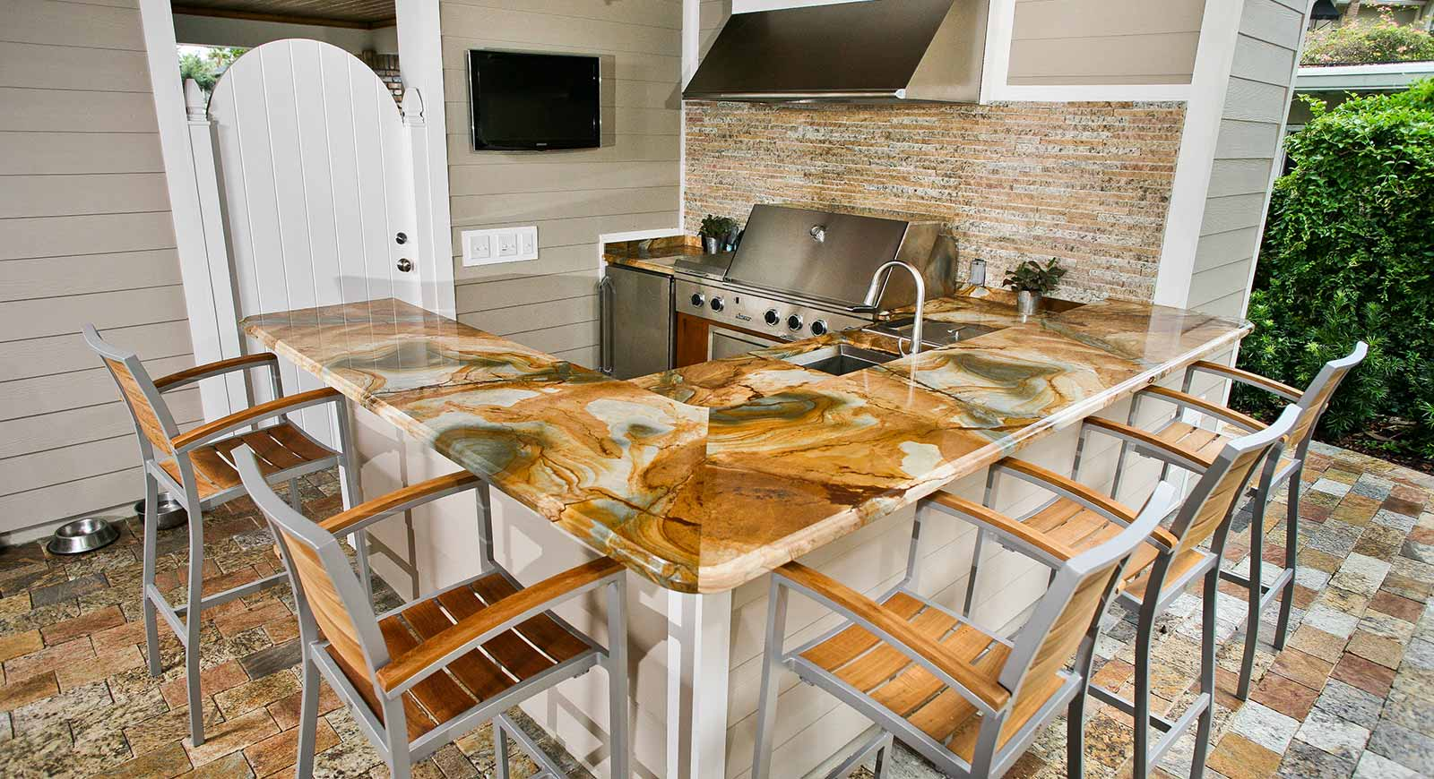 Outdoor Countertops Material Outdoor Kitchen Countertops Orlando Adp Surfaces