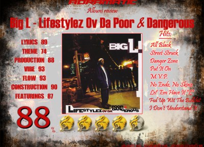 Big L – Lifestylez Ov Da Poor & Dangerous (review – 88% ...