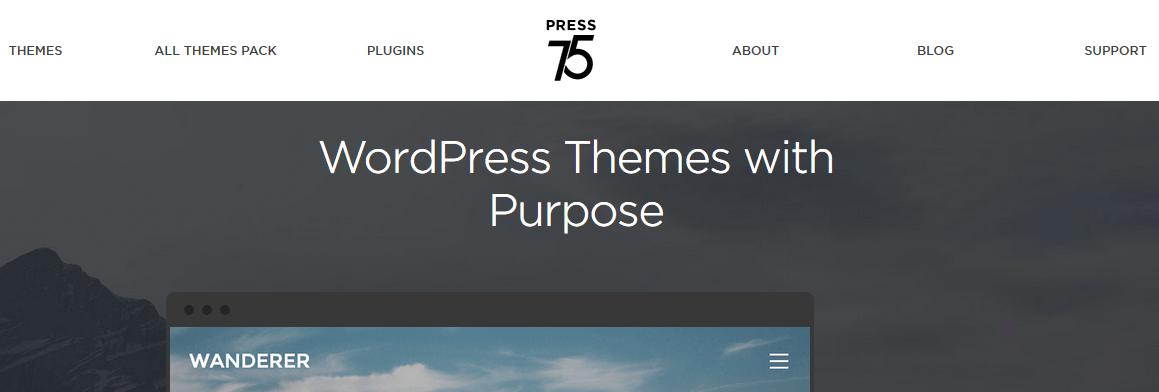 Gde kupiti premium temu za WordPress - Press75