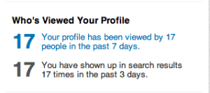 This feature appears on the homepage of every LinkedIn account.