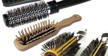 como limpar a escova de cabelo