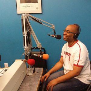 Adrian in the KGNU Denver Radio Studio