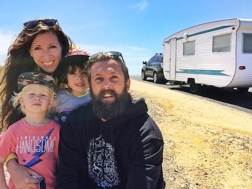 The Booker family and our tiny house on wheels