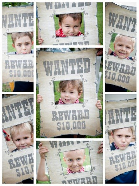 wanted poster photos for cowboy birthday party