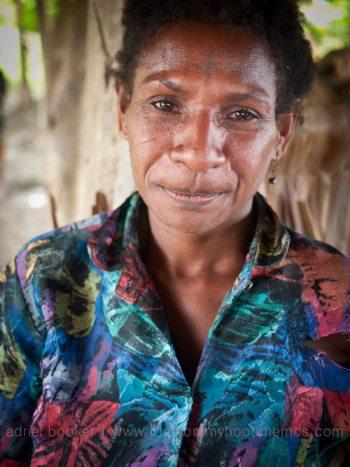 Birth attendant Josephine of Bamio, Western Province, Papua New Guinea.