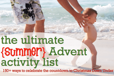 150+ Advent or Christmas countdown activities in different categories, including an entire section of ideas for celebrating a summer Christmas. Skim the list and choose 24 that suit your family!