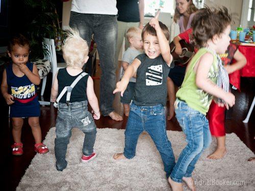 Rockstar Kids Birthday Party dance time