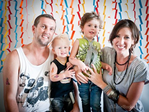 Rockstar Kids Birthday Party - don't forget the family pic in front of the cute backdrop!