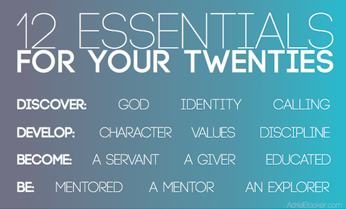12 Essentials for your 20's - Practical advice for Christian twenty-somethings.