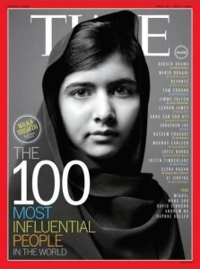 Malala Yousafzai - at 16 is one of the most influential people of our time.