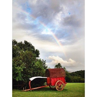 Rainbow after the storm at Creteoli Farm.