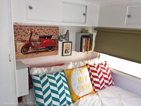"Adriel Booker - Living in a Caravan-Camper - ""master"" bedroom"