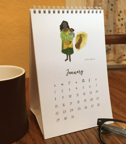 Christmas Gift Guide to Empower Women—New Life Maternity Calendar